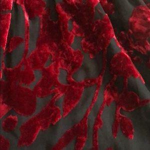 Tobi Other - Red/Black Tobi Lace romper